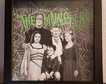 The Munsters shadowbox