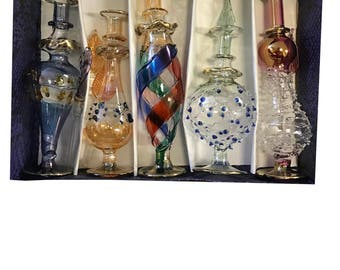 Egyptian Parfume Bottles 5 Pieces Hand Made