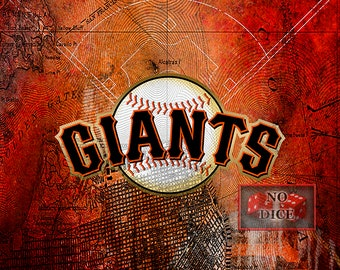 San Francisco Giants Poster, San Francisco Giants Artwork Gift, Giants Layered Man Cave Art