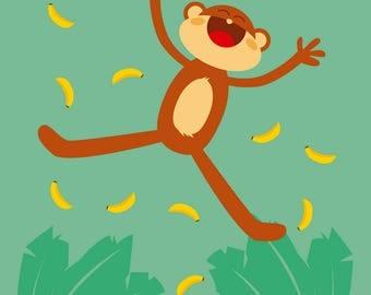 Let's Go Bananas! Fine Art Print