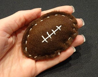 Cat Toy. Catnip. Football. Felt.