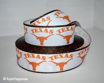 "University of Texas 1.5"" Grosgrain Ribbon 159A"