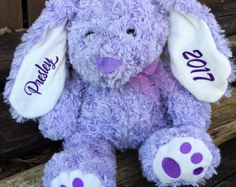 Personalized Easter gift, Personalized easter bunny, Stuffed bunny, Easter Rabbit, Stuffed animal, Personalized, Rabbit, Easter