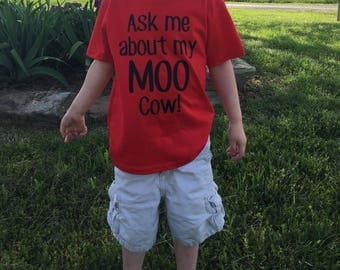 Ask me about my moo cow, moo cow shirt, toddler shirt, Moo cow, cow shirt, surprise shirt, funny toddler