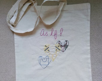 Embroidered Canvas Tote Bag