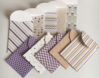 Mini envelopes, handmade envelopes, paper envelopes, envelopes