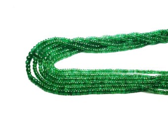 Natural EMERALD zambian faceted \ 16 inch strand approx