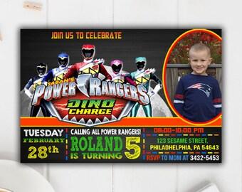 Power Ranger Invitation, Power Ranger Birthday Invitation, Power Ranger Party, Power Rangers, Power Ranger Birthday, Power Ranger kid