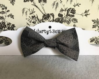 Black and gray bow tie/ hair bow