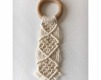 Macrame Baby Teething Ring , Teether.