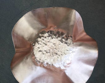 100% Copper hand hammered dish