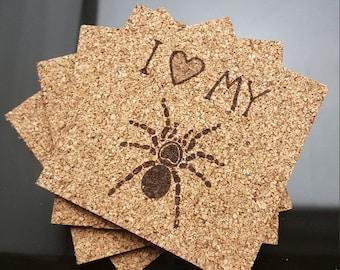 I Love My Spider Coasters