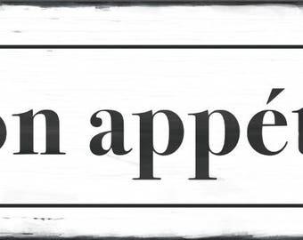 Bon appétit Wood Sign