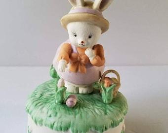 Easter Bunny music box San Francisco Music Box Company