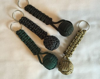 paracord monkey fist keyring