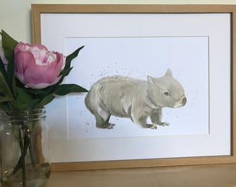 artbrush 'Willow' Print (Wombat)