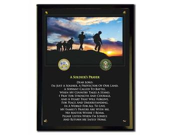 A Soldier's Prayer Plaque