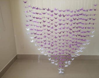 20 Strands- Origami Cranes Backdrop- Wedding Decor- party decor ....