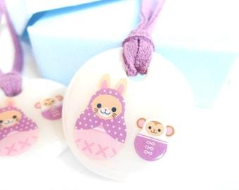Purple Bunny Pendant/Necklace
