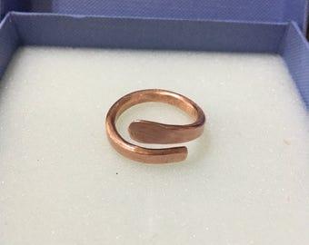 Chunky handmade copper ring