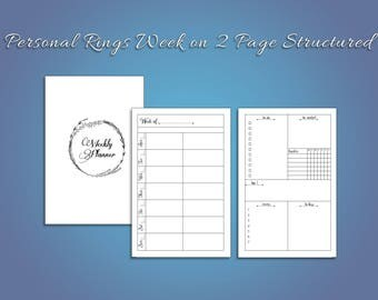 Personal Week on Two Pages Structured for Ring Planners
