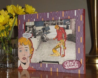 3D Shadowbox, Wood and Paper Collage, Kitsch