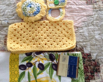 Kitchen dish cloth set
