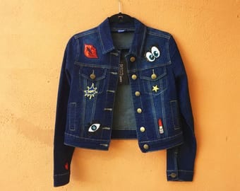 Trendy Patchwork Jean Jacket