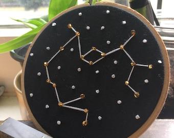 Embroidered Saggittarius Zodiac Constellation