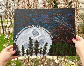 You Will Shine Like Stars Canvas Panel