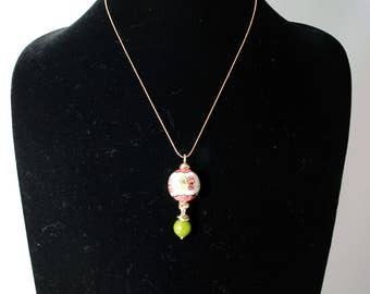 Traditional Sicilian Ceramic Ball Pendant Necklace