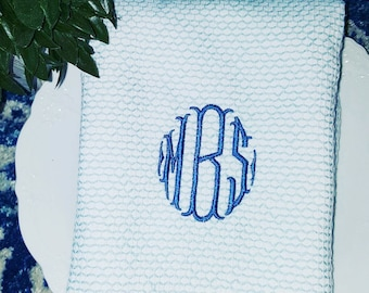 Monogrammed Embroidered Kitchen Towel