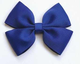 Royal Blue Colour Hair Bow