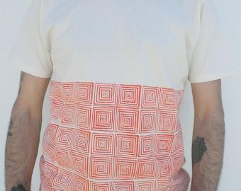 Organic cotton handprint squares pattern Tshirt men