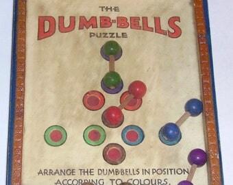R Journet RJ The Dumb-bells Puzzle glass top dexterity puzzle