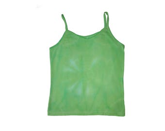 Chartreuse Spiral Tie Dye Small Tank