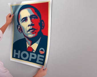 Modern Canvas Painting Barack Obama Hope Poster Art Prints Wall Picture Frameless Home Decoration