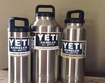 PICK ONE Authentic 18oz, 36oz, OR 64oz Yeti Rambler Bottles + Free Shipping! Custom Personalization Available!