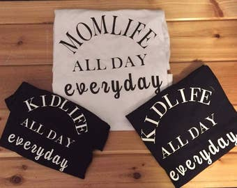 Momlife/kidlife 30.00 single 40.00 double