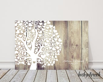 "wedding fingerprint tree guestbook wedding confirmation ""New tree"" on canvas"