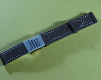 "Brand Fleurus ""cowhide"" 14 mm leather watch band"