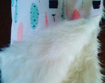 Fluffy and feathers blanket