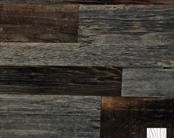 Real, Authentic Reclaimed Barn Wood Accent Wall Planks|Grey-Brown Mix
