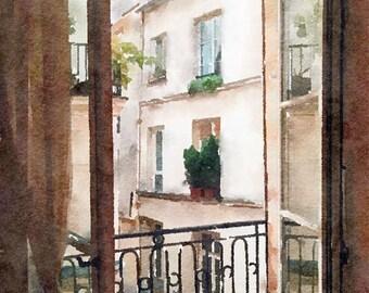 Apartment Original Watercolour Painting Q86