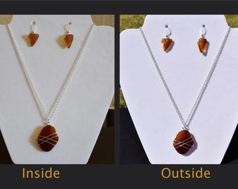 Authentic Amber Sea Glass Jewelry