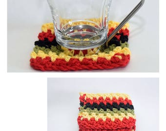 Crochet Coaster Coaster Set Drink Mat Kitchen And Dining Afrocentric Home Decor