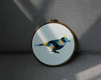 Bird embroidery.creative decoration, color lump pattern. by granny wang