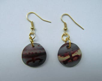 Coqui taino earrings, Puerto Rico