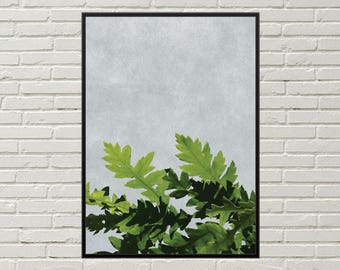 LEAVES art print, leafy wall art, relaxing wall art leaf digital print, foliage wall art, foliage art print leaf wall decor, tree branch art