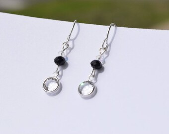Swarkovski Crystal Drop Earrings, Sparkles in the sun, beautiful with everything, handmade for summer